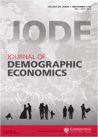 Cover journal of Demographic Economics