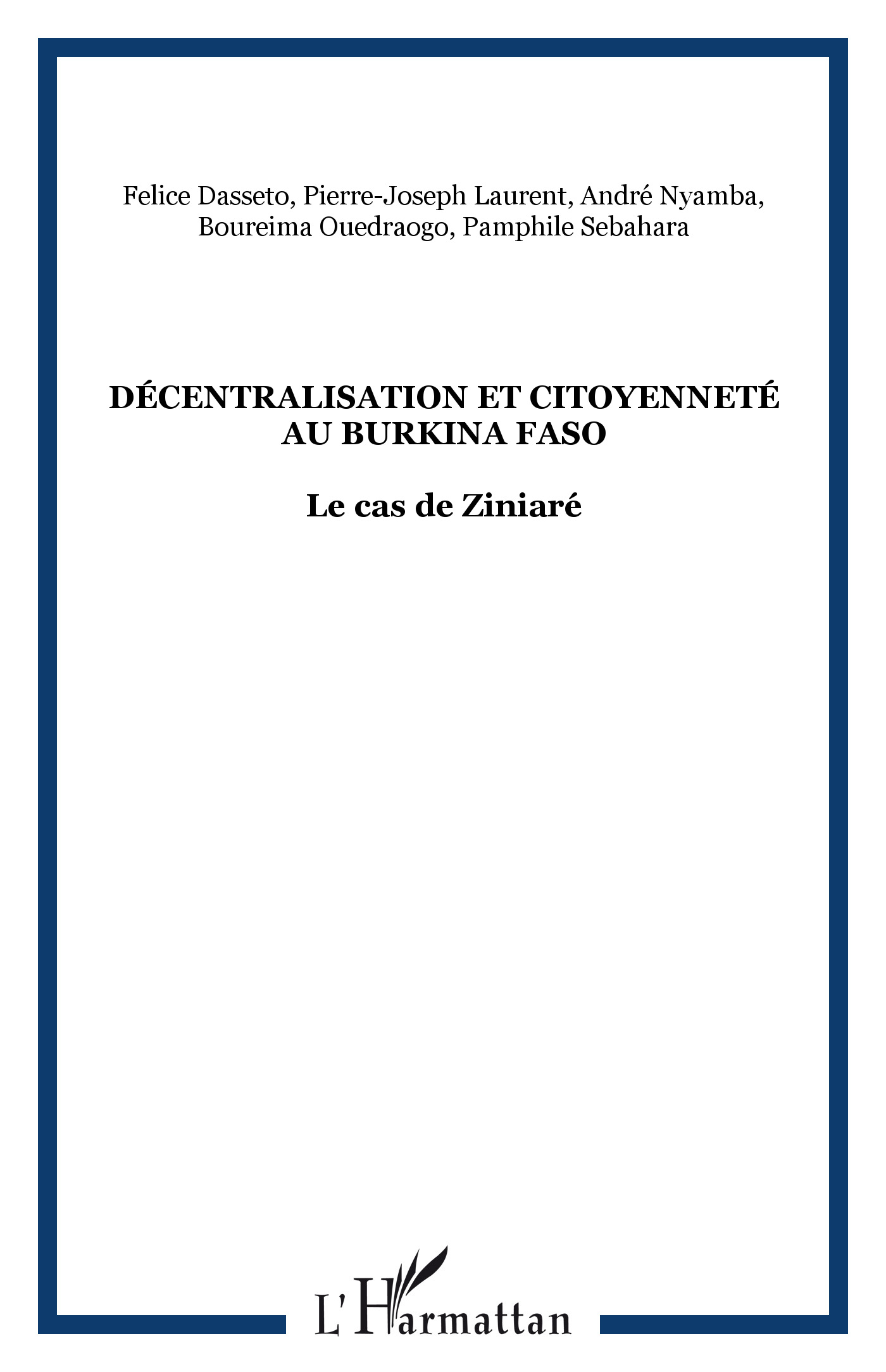Décentralisation et citoyenneté au Burkin Faso
