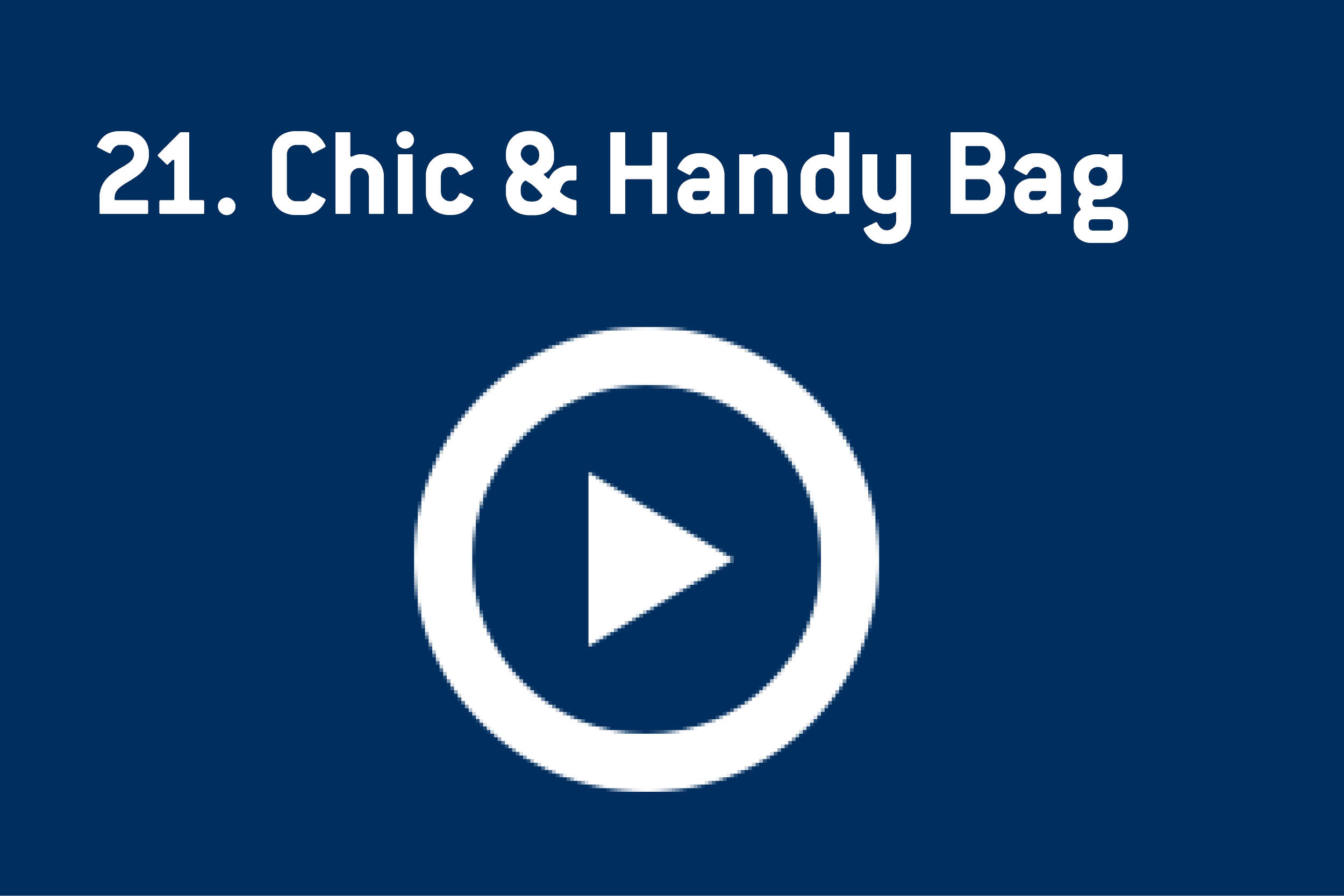 chic handy bag