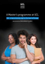A Master's programme at UCL