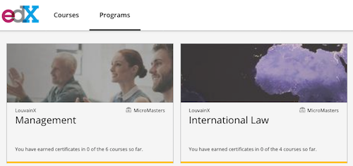 MicroMasters programmes sur edX.org