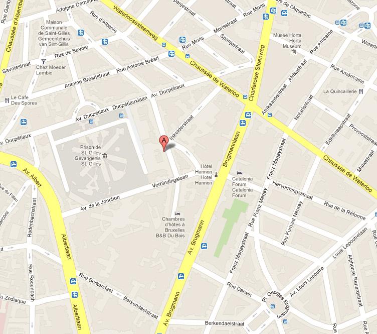 plan accès Wafelaerts