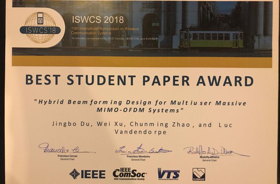 Best student paper award | UCLouvain